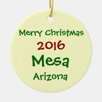 新しい2016年のメサアリゾナのメリークリスマスのオーナメント セラミックオーナメント