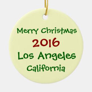 新しい2016年のロサンゼルスカリフォルニアのクリスマスのオーナメント セラミックオーナメント