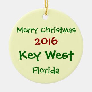 新しい2016年のKEY WESTフロリダのメリークリスマスのオーナメント セラミックオーナメント