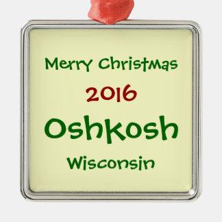 新しい2016年のOSHKOSHウィスコンシンのクリスマスのオーナメント メタルオーナメント