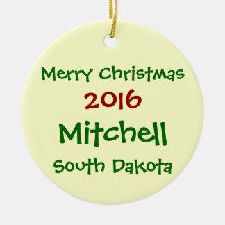 新しい2016 MITCHELLサウスダコタのクリスマスのオーナメント セラミックオーナメント