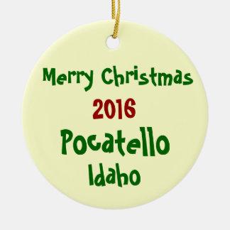 新しい2016 POCATELLOアイダホのクリスマスのオーナメント セラミックオーナメント