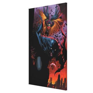 新しい52 -バットマンおよびロビン#1 キャンバスプリント