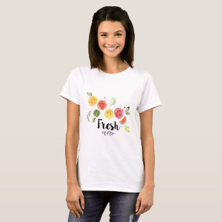 新しい-水彩画の柑橘類 Tシャツ