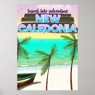 """新しいCaledonの""""冒険への旅行""""旅行ポスター ポスター"""