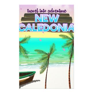 """新しいCaledonの""""冒険への旅行""""旅行ポスター 便箋"""
