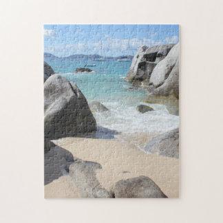 新しいGorda、BVIの浴室の景色のビーチ ジグソーパズル
