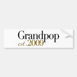 新しいGrandpop米国東部標準時刻2009年 バンパーステッカー