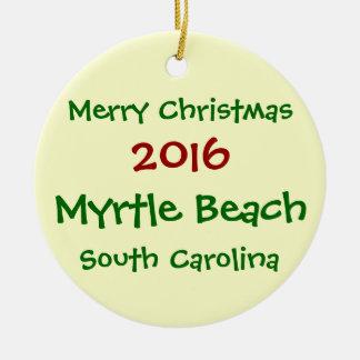 新しいMYRTLE BEACHサウスカロライナのクリスマスのオーナメント セラミックオーナメント