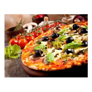 新しくイタリアンなピザ ポストカード