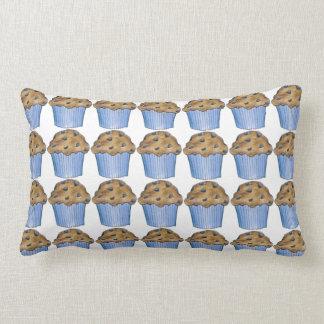 新しく焼いたなブルーベリーのマフィンのマフィンの食糧枕 ランバークッション