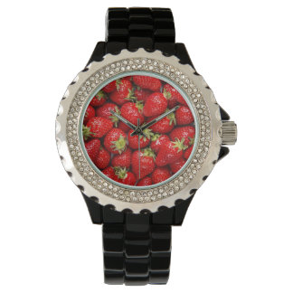 新しく赤いいちご 腕時計