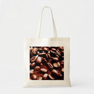 新たに挽いたコーヒーおよび豆の戦闘状況表示板 トートバッグ