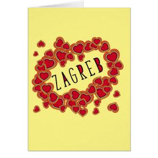 新ザグレブのクロアチアの挨拶状 カード