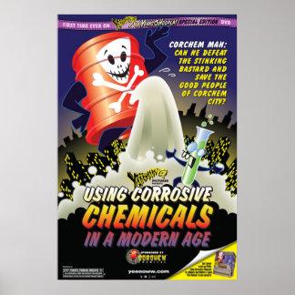 新世代ポスターの腐食性の化学薬品を使用して ポスター