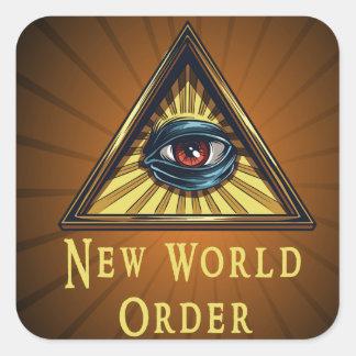 新世界秩序のジャンルのSqaureの表紙のステッカー スクエアシール