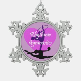 新体操 ピューター製スノーフレークオーナメント