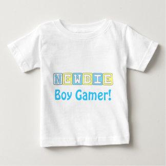 新参者の男の子のゲーマーの乳児のTシャツ ベビーTシャツ