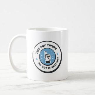 新婚者のおもしろいで新しい夫のギフト コーヒーマグカップ
