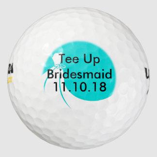 新婦付添人のゴルフ・ボールの招待 ゴルフボール