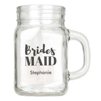 新婦付添人のブライダルパーティの結婚式のメーソンジャー メイソンジャー