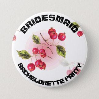 新婦付添人の結婚式のブライダルシャワーのパーティーボタン 7.6CM 丸型バッジ