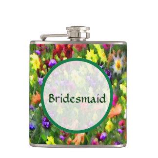 新婦付添人の花の印象の結婚 フラスク