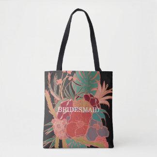 新婦付添人の花のBohoのギフトパターントートバック トートバッグ