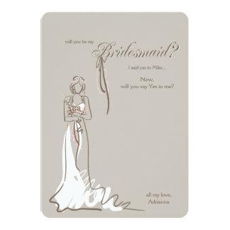 新婦付添人の質問カード カード