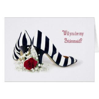 新婦付添人の靴は上がり、 カード