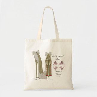 新婦付添人は結婚式のトートのギフトバッグを個人化します トートバッグ