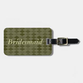 新婦付添人、緑のダイヤモンドの荷物のラベル ラゲッジタグ