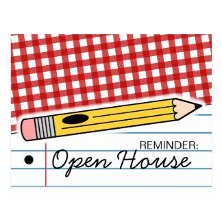 新学期のオープンハウス/オリエンテーションの郵便はがき ポストカード