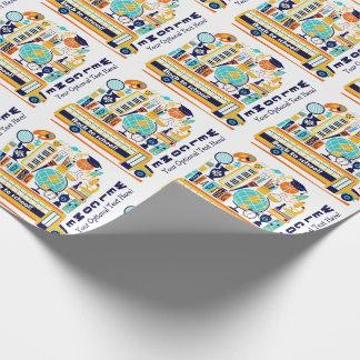 新学期のカスタムな文字の包装紙 ラッピングペーパー