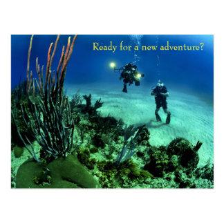 新学期の深海のダイビングの冒険 ポストカード