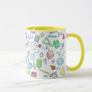 新学期: 数学のマグ マグカップ