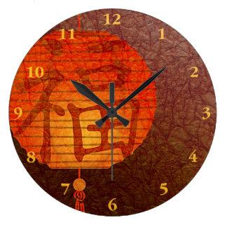 新年のちょうちん ラージ壁時計