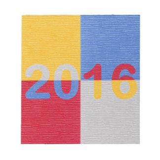 新年のイメージ2016年 ノートパッド