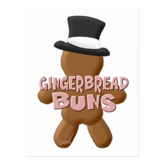 新年のジンジャーブレッドのパン ポストカード