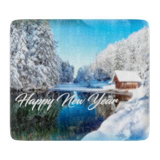 新年のテーマのまな板 カッティングボード