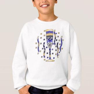 新年のトーストの子供およびベビーの軽いワイシャツ スウェットシャツ