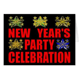 新年のパーティの招待状 カード