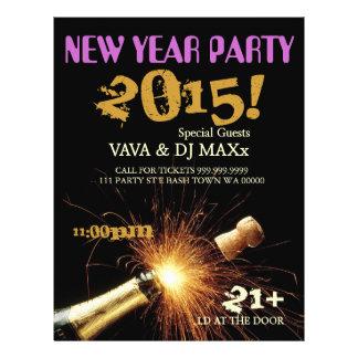 新年のパーティーのイベントの発表のフライヤ チラシ