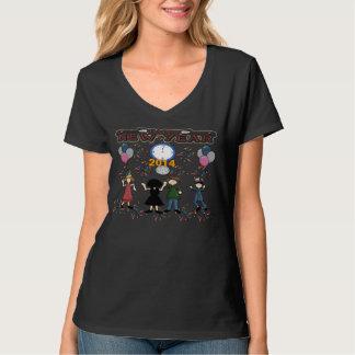 新年のパーティーの女性のTシャツ Tシャツ