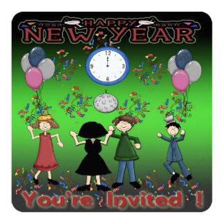 新年のパーティーの新年のパーティの招待状 カード