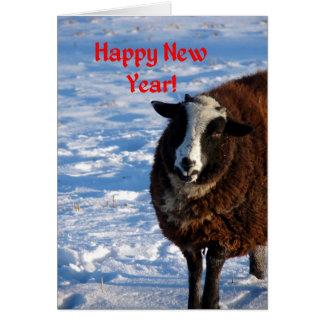 新年のヒツジ カード