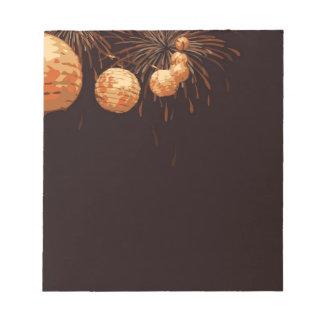 新年のランタンの小型メモ帳 ノートパッド