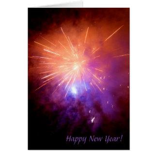 新年のロケット カード