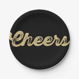 新年の応援のグリッターの休日のパーティの紙皿 ペーパープレート