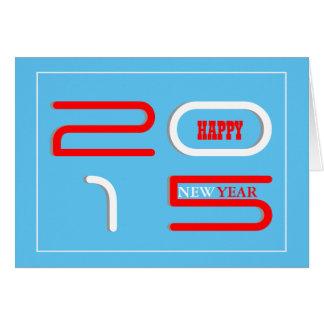 新年の挨拶のモダン カード